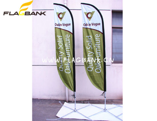 3.4m Outdoor Aluminium Digital Printing Flying Banner/Feather Flag pictures & photos