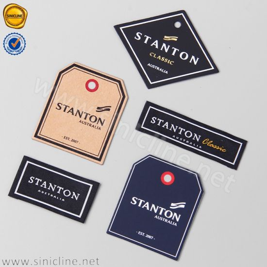 Sinicline Customized Navy Blue Cardboard Garment Hang Tags