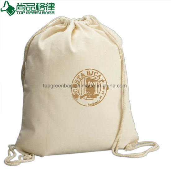 68b111468765 China Supplier Best Selling Calico Cotton Canvas Drawstring Backpack ...