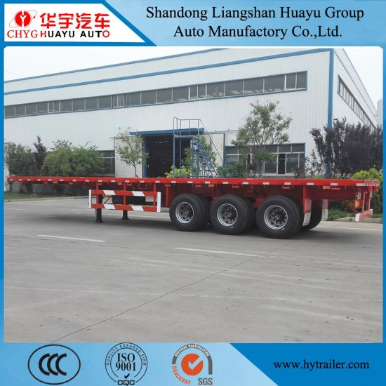 40FT 2/3 Axle Flatbed Semi Trailer for Container/Cargo Transport