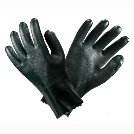 Green PVC Hand Safety Gloves