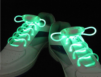 LED Lighting up Shoelace Flashing Shoe Lace pictures & photos