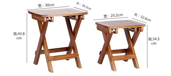 Portable Small Folding Outdoor Table And Chair With Bamboo