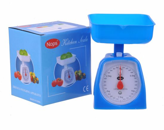Nops Colorful with Tray Plastic Spring Platform Weighing Food Scale