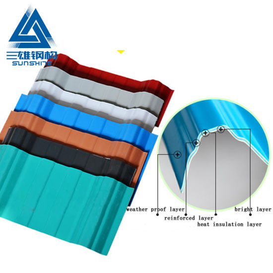 Color Lasting 15 Years Apvc 1050 Residential Housing Roof Tile