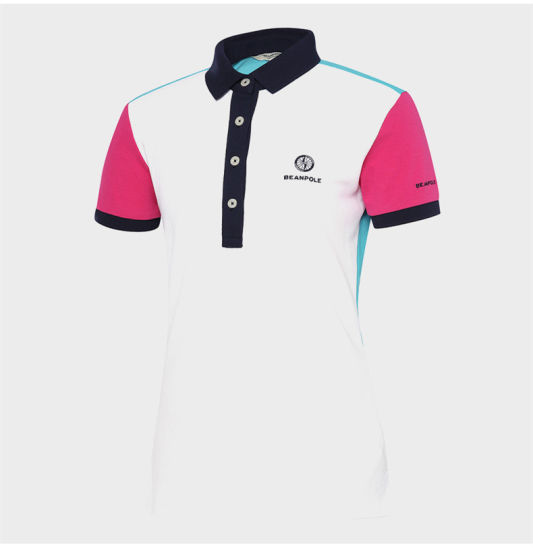 22d55e5ee OEM Contrast Color Women′s Slim Fit Golf Polo Shirt with Embroidery Logo