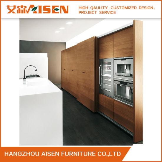 Kitchen Designs Wood Veneer Simple Kitchen Cabinet From