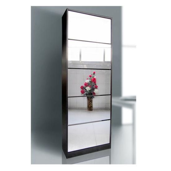 New Design 5 Door With Mirror Shoe Cabinet Rack Storage