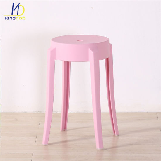 Wholesale Home Decor Small Stool Stacking Plastic Living Room Chairs