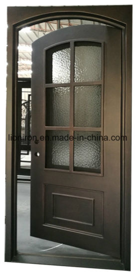 China Security Modern Style Single Exterior Wrought Iron Front Door