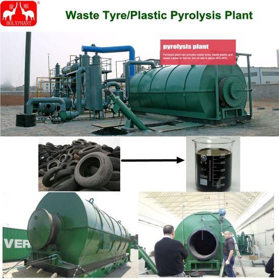 China 3t-12t/Batch Waste Plastic Tire Pyrolysis Plant