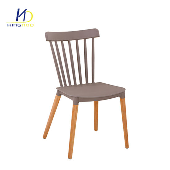 Wholesale Modern Outdoor Plastic Restaurant Wooden Legs Dining Chair pictures & photos