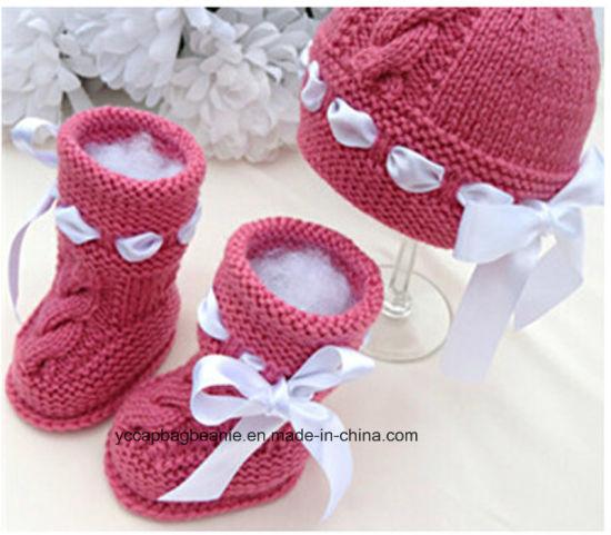 China Lovely Warm Baby Knitting Pattern Baby Shoe China Baby Shoe