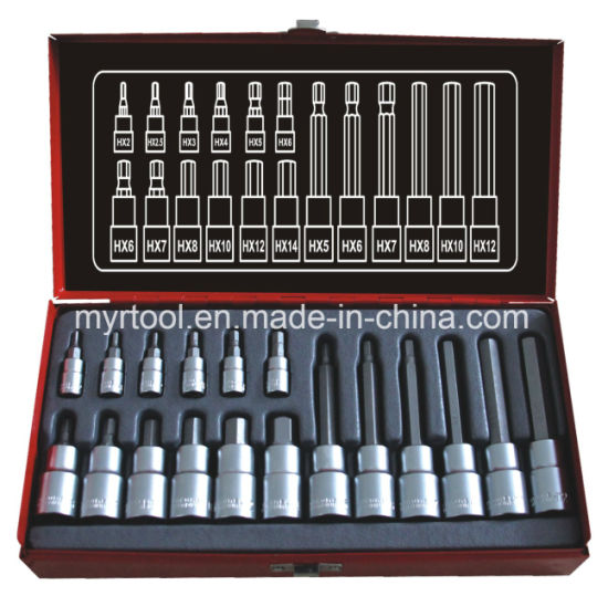 "18 PCS 1/4""Dr&1/2""Dr Professional Bits Socket Set (FY1418A) pictures & photos"
