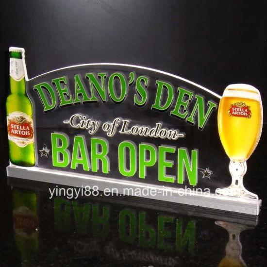 China Light Up Led Sign Custom Home Bar Beer Neon Light Sign Bar