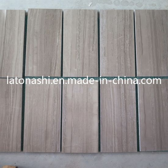 Wholesale Polished Natural Coffee Wood Grain China Marble Floor Tile