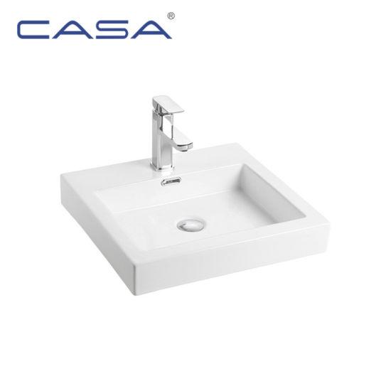 Popular Design Cheap Glass Ceramic Kitchen Sink Bathroom Washbasin