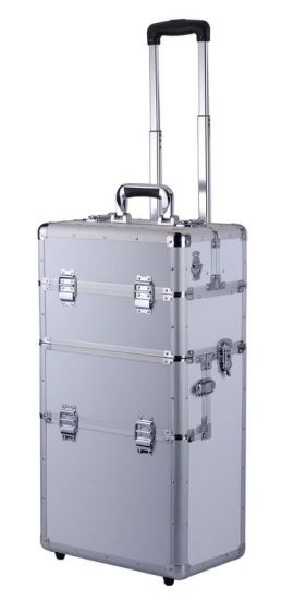Hot Sell Portable Aluminium Case with Wheels