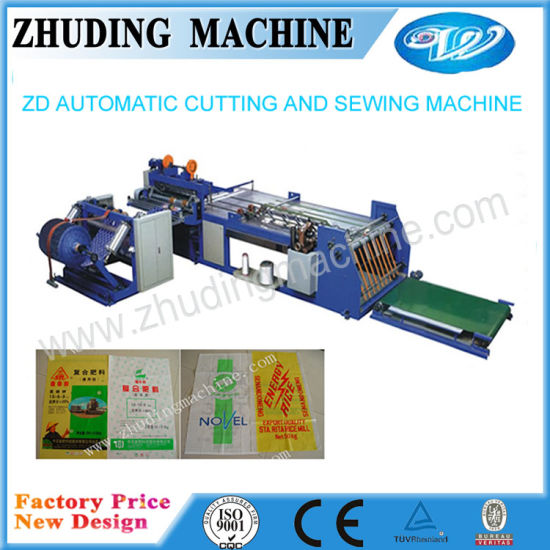 China 40 New Model Automatic PP Woven Bag Cutting and Sewing Unique Automatic Cutting And Sewing Machine Price