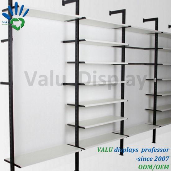 china metal garment display rack store shelving fixtures for retail rh valudisplay en made in china com where to buy display shelves for retail stores