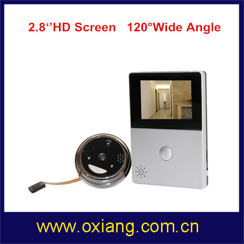 WiFi Peephole Video Doorbell with 2.8'' HD Screend