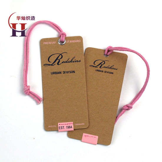 Luxury Design Recycle Thick Kraft Paper Hang Tag with Wax String
