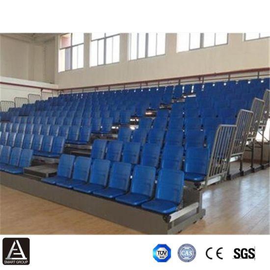 China Indoor Stadium Telescopic Bleachers Retractable Gym Seats China Stadium Grandstand Seating Indoor Gym Bleachers