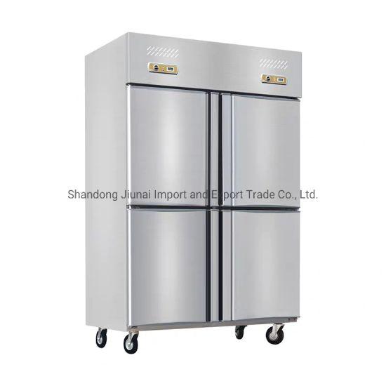 4 Door Commercial Stainless Steel Upright Deep Freezer Refrigerator