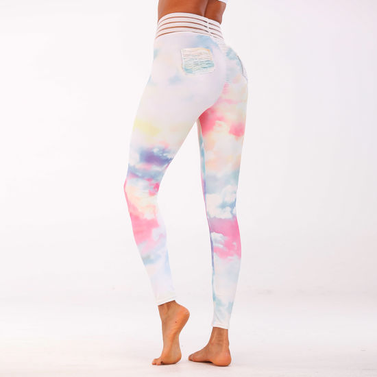 Fashion Custom Design Women Yoga Pants with Lycra Fabric pictures & photos