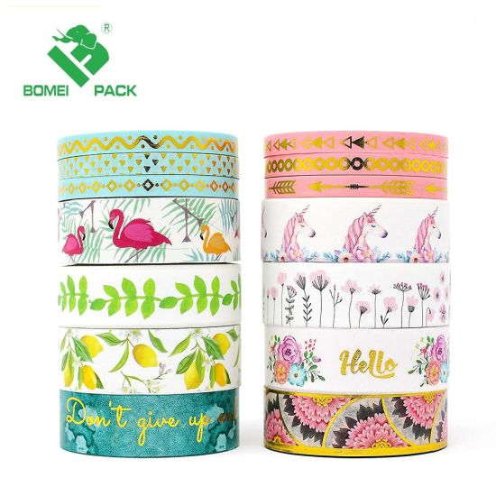 Golden Foil Decorative Stationery Washi Tape pictures & photos