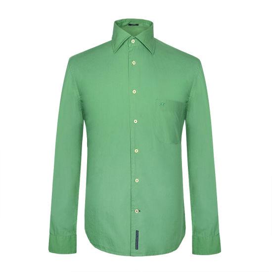 Garment Dyeing Shirt Cotton Men Casual Shirt