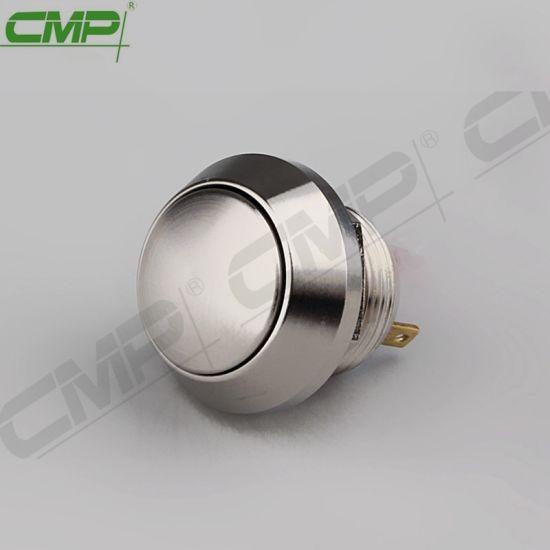 CMP 12mm Waterproof Metal Anti-Vandal Push Button Switch