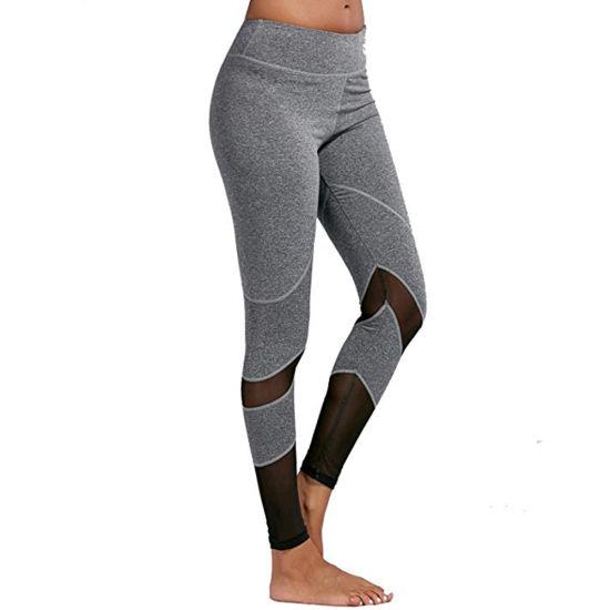 651de940bc China Womens Mesh Insert Strape Stretch Fitness Sports Yoga Leggings ...