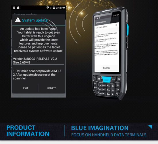 China 4G/WiFi/Bluetooth Wireless Portable Handheld Computer Data