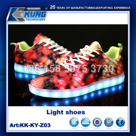 Good Quality Flash Men Light Running LED Shoes RGB LED Men Shoes 2018