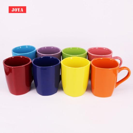 14oz Ceramic Mug with Square Shape