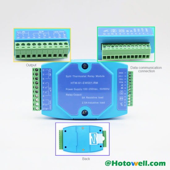 Wall Mounted DIN Rail Mounted 4-Wire Communication Hotel Room Thermostat pictures & photos