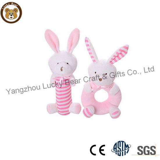Ce Standards Soft Plush Rabbit Toy Stuffed Bunny Baby Rattle