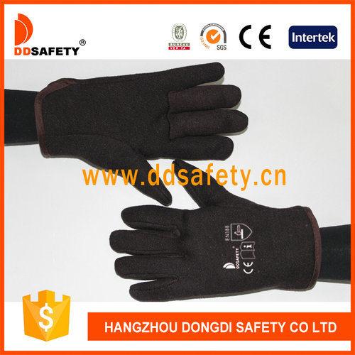 Brown Jersey Cotton Garden Hand Protection Gloves