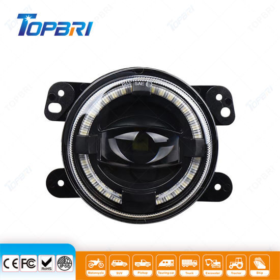 Waterproof Headlight LED Fog Auto Car Driving Work Lights for Motorcycle Offroad Jeep Wrangler Atvs