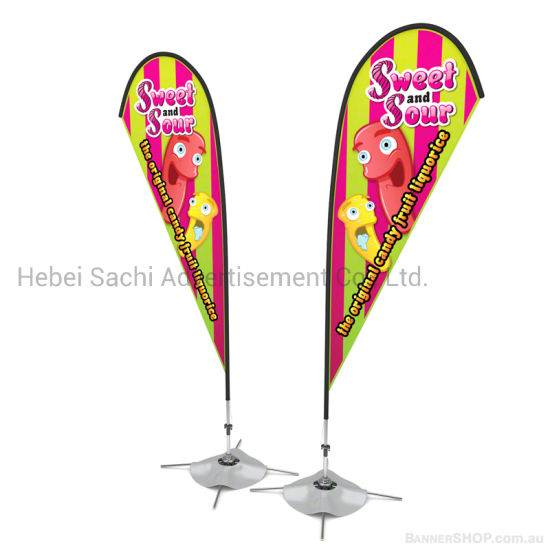 Outdoor Advertising Feather Teardrop Beach Flag