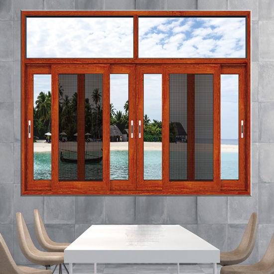 Aluminum Single/Double/Triple Glass Sliding Casement Window with Mosquito Net