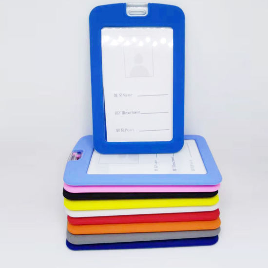 Hot Sell Custom Available Colors Silicone ID Card Badge Holder