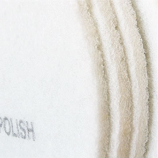 5 Pack 17 Inch White Non-Woven Floor Polishing Pad