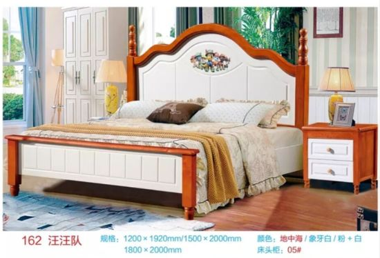 Solid Wood King Size Bed Frame Headboard Set China Queen Size