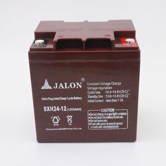 12V 24ah Rechargeable VRLA UPS Battery Deep Cyle for Solar Inverter