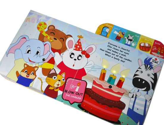 Custom-Made 5-Button Musical Rhymes Book Interactive Children's Sound Music Book