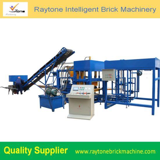 Qt4-18 Automatic Hollow Concrete Brick Machine Paver Moulding Block Making Machine