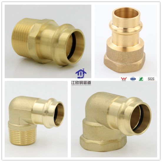Brass Press Elbow Lugged Plumbing Fitting Brass Elbow Fitting