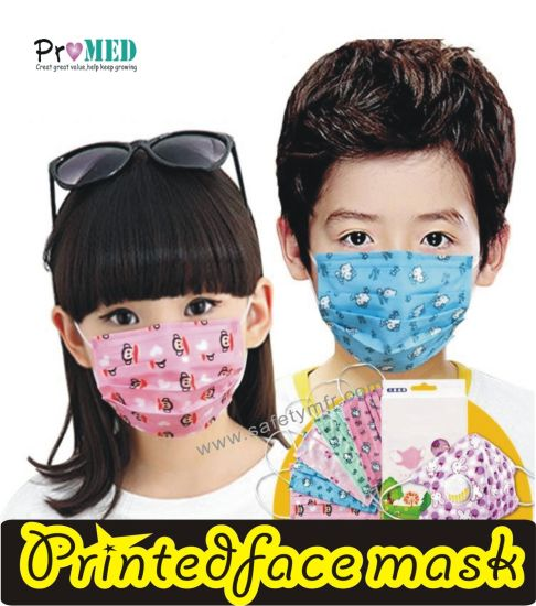 Children child kid Nonwoven kids baby Printed Mask Face